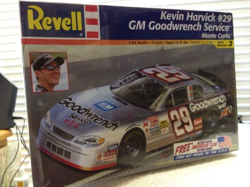 Revell Kevin Harvick Goodwrench #29  NASCAR 1/24th Model Kit 2002 Sealed #RevellMonogram