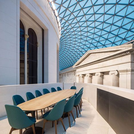 softroom completes a restaurant in the british museum s great court