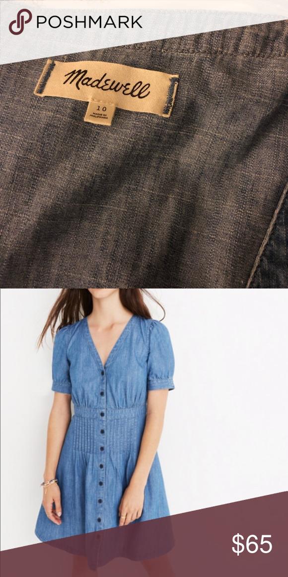 56bb0b59aa Madewell Denim Button up Daylily Dress Good condition Madewell Dresses Mini