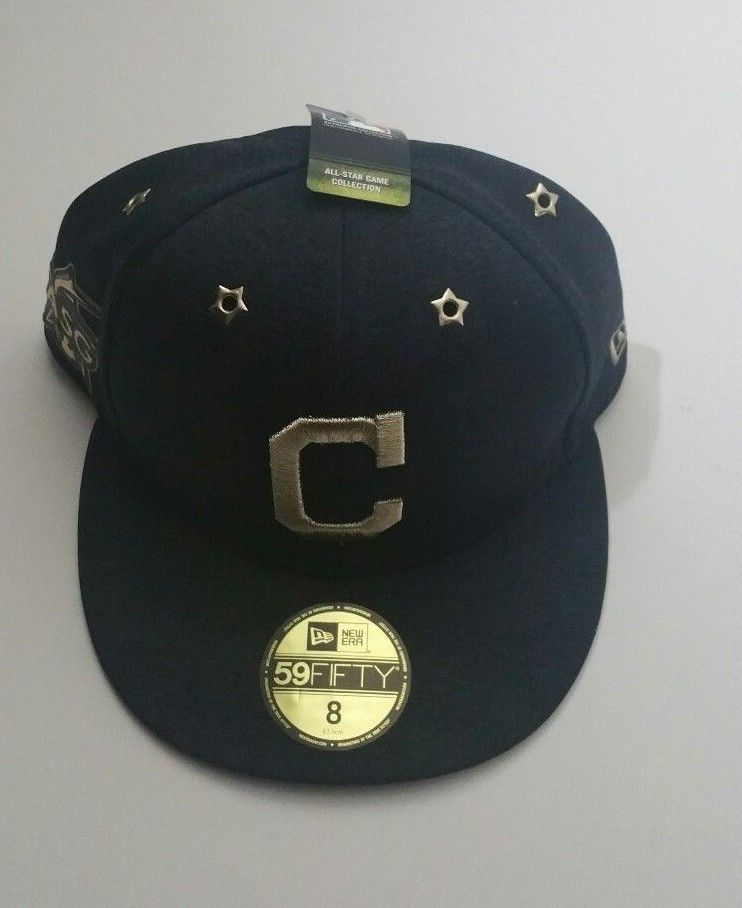 f6838b5f543d0d Cleveland Indians New Era 2017 MLB All-Star Game 59FIFTY Fitted Hat Navy  Size 8 #NewEra #ClevelandIndians