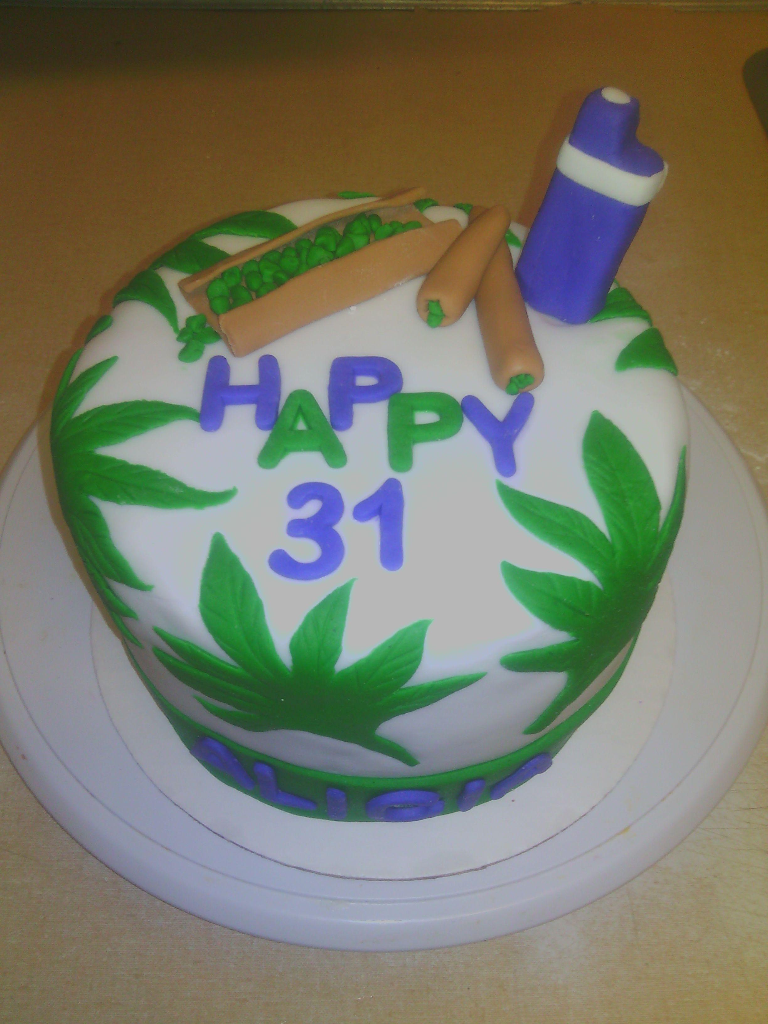 Marajuana Themed Cake Drug Free B Dazzled Cakes Pinterest