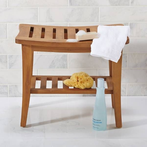 139 99 Bed Bath And Beyond Teak Shower Bench With Images Teak