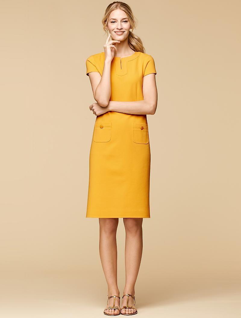Talbots Refined Ponte Knit Shift Dresses Petites Shift Dress Outfit Clothes Summer Dress Inspiration [ 1057 x 800 Pixel ]