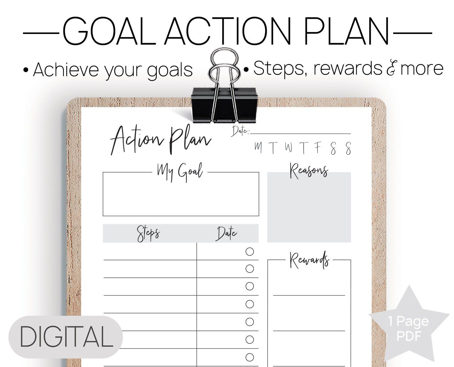 Printable Goal Action Plan