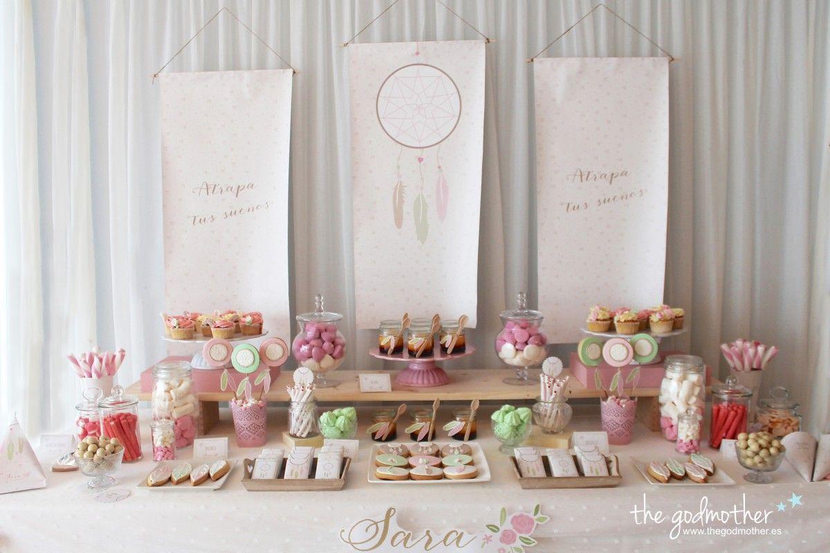 Mesa dulce est tica boho mesa dulce comuni n - Decoracion para comunion ...