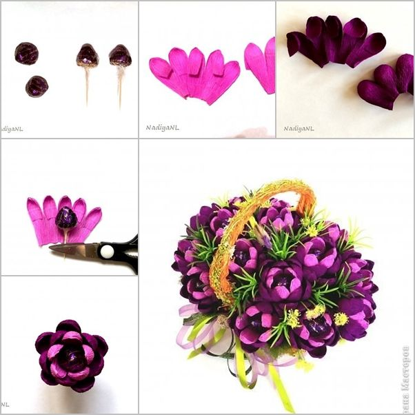 DIY Beautiful Chocolate Flower Bouquet | Presentes mães | Pinterest ...