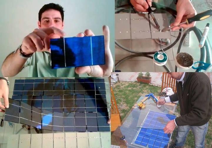 como construir paneles solares