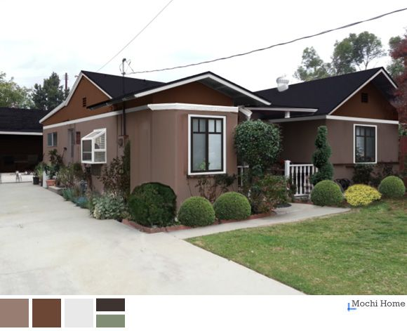 Rich Brown Exterior Paint Earthtone Stucco Mochi Home