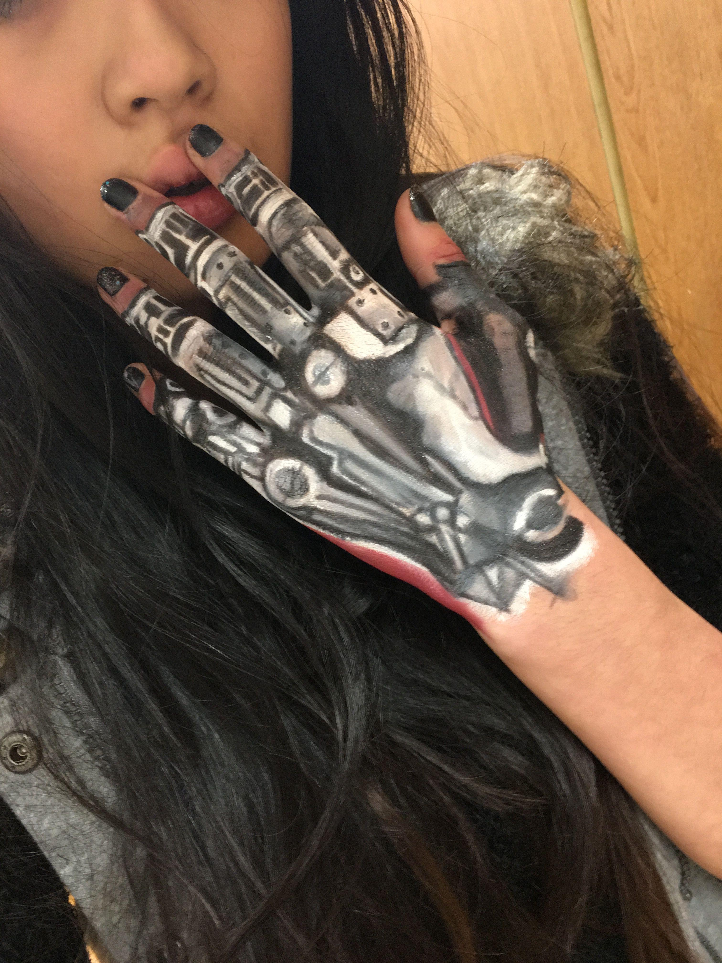 Cyborg 6 Hand Makeup Makeup Art Hand Art