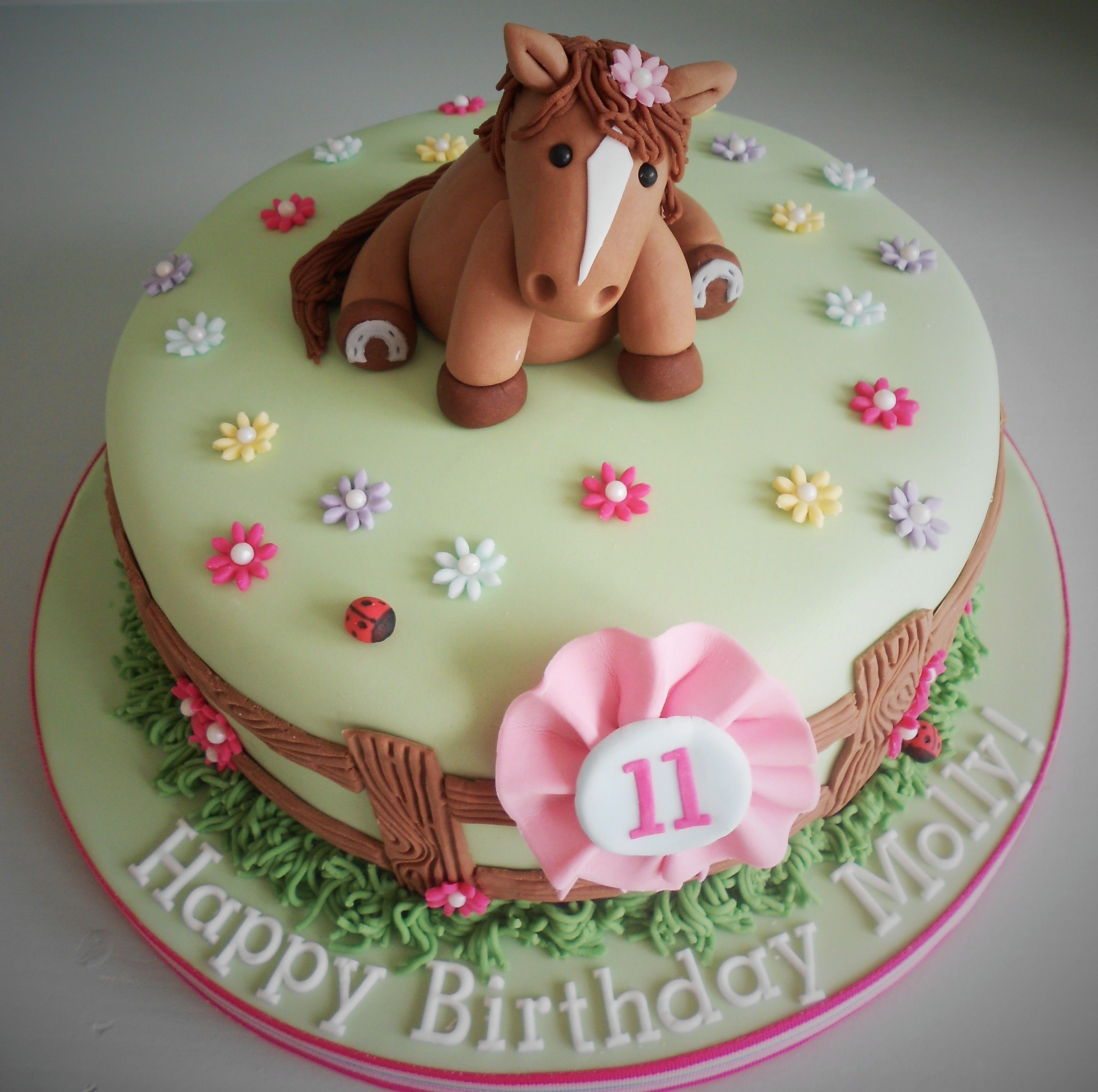 Girly Horse Birthday Cake By Little Aardvark Cakery Www