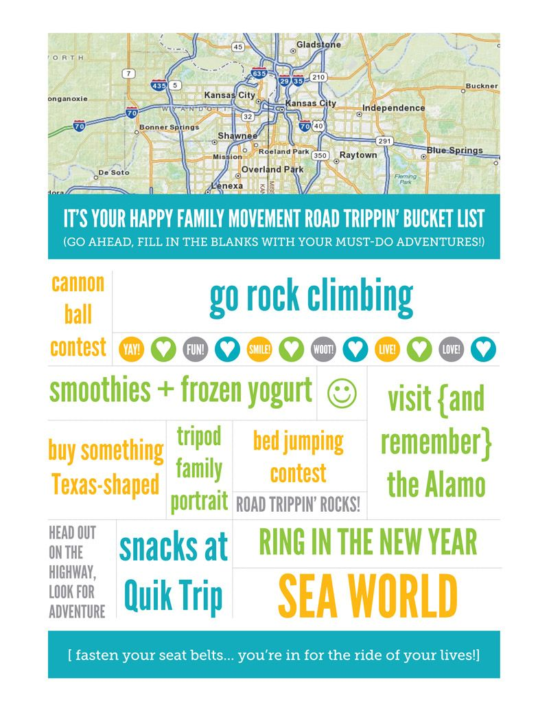 Road Trip Bucket List For Happy Family Travel Texas Great