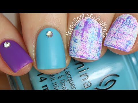 EASY SUMMER NAIL ART: Brushstroke Watercolor Grunge Manicure - YouTube