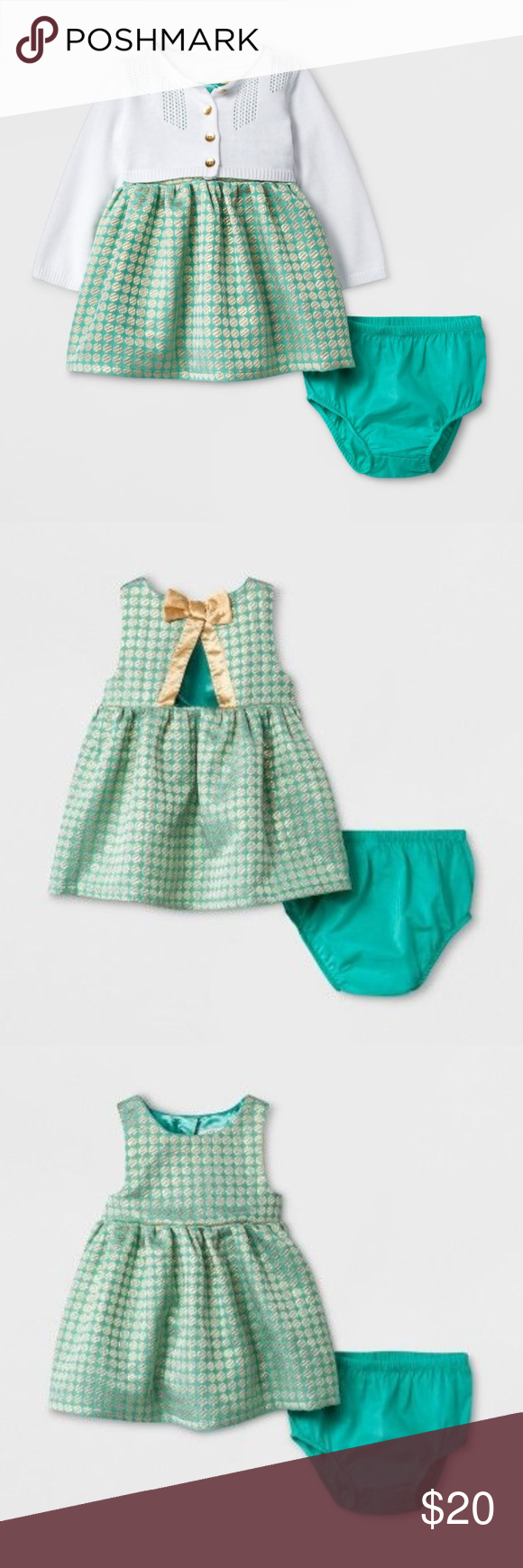 Green dress baby images  New Baby Girl Sweater u Dress Set Party Clothes NWT  Pinterest