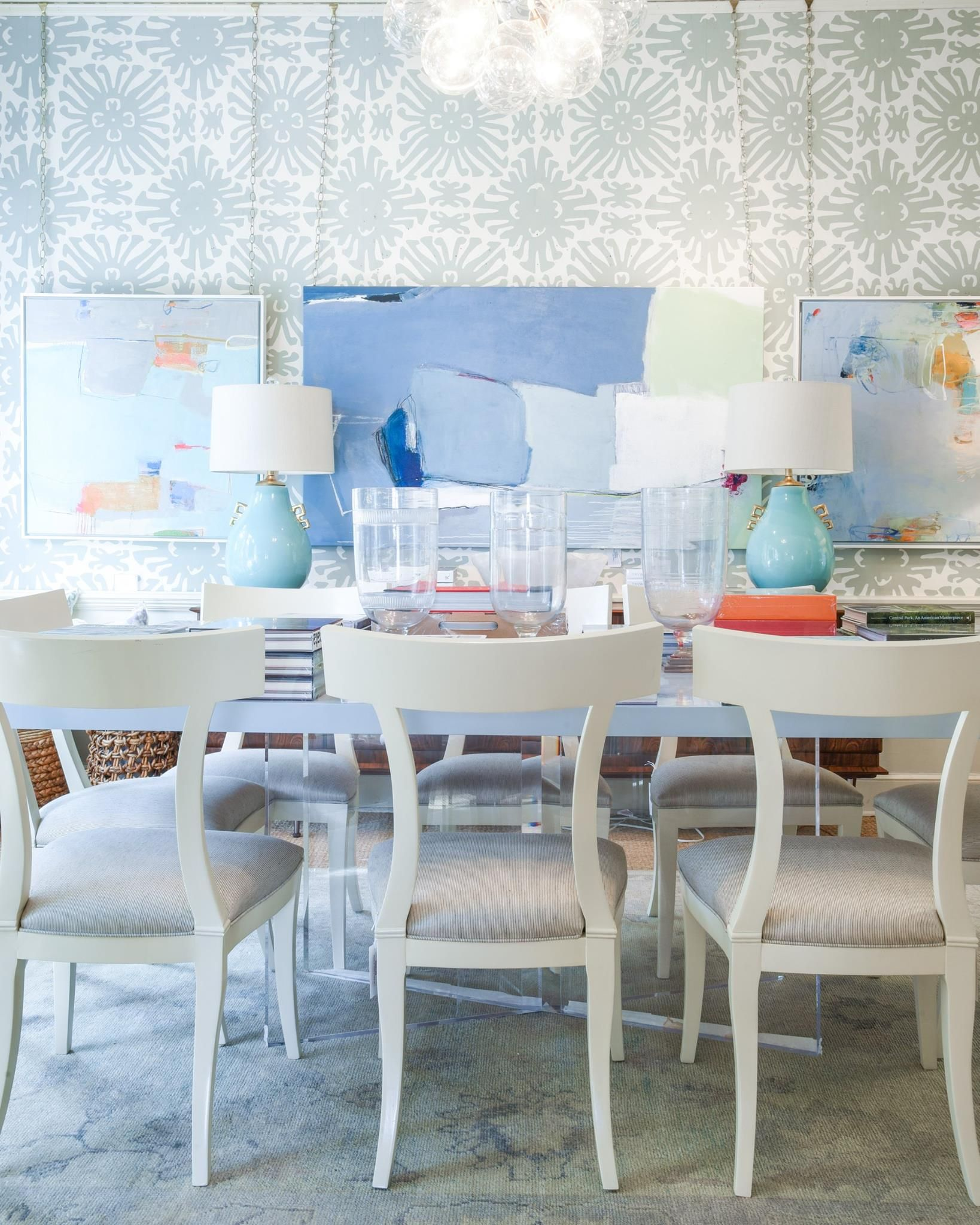 lacquer and lucite dining table | coffee table books ...