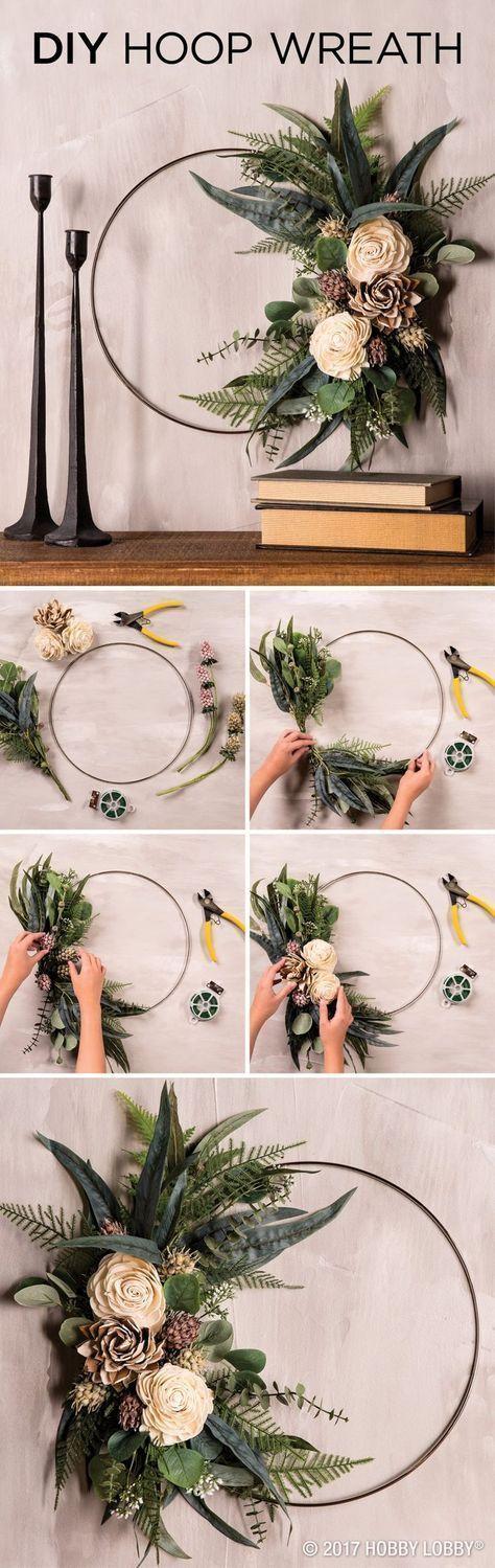 Photo of Modern Wreath DIY – Floral | Hobby Lobby