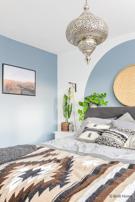 Cirkel verven op de muur als DIY voor de slaapkamer | Bedrooms and ...