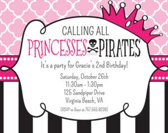 Princess and pirate party argh princess and pirate birthday princess and pirate party argh princess and pirate birthday invitation printable filmwisefo Choice Image