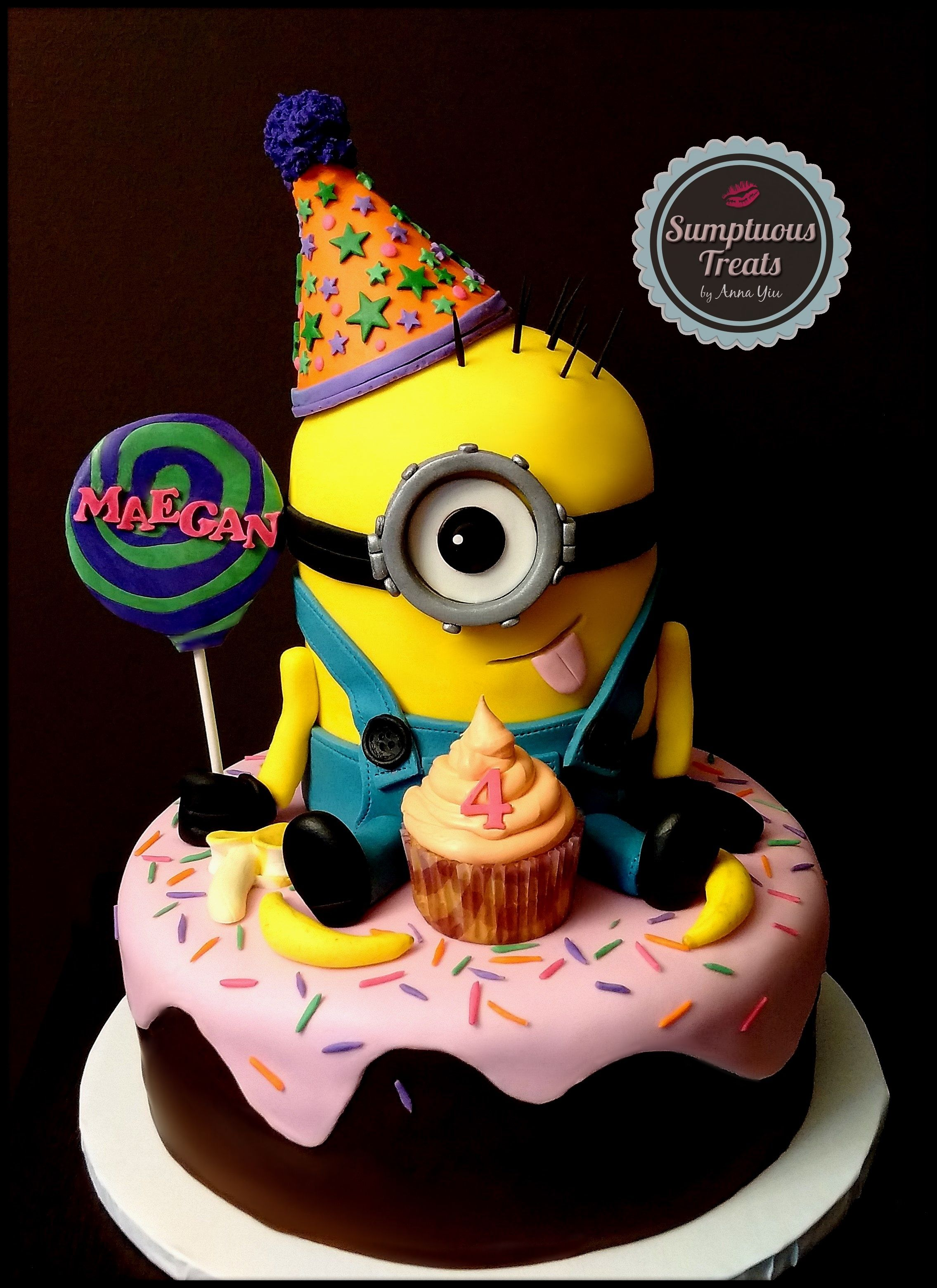 Minion Birthday Cake Custom Made To Order Cakes Desserts Edible Art Sumptuoustreats