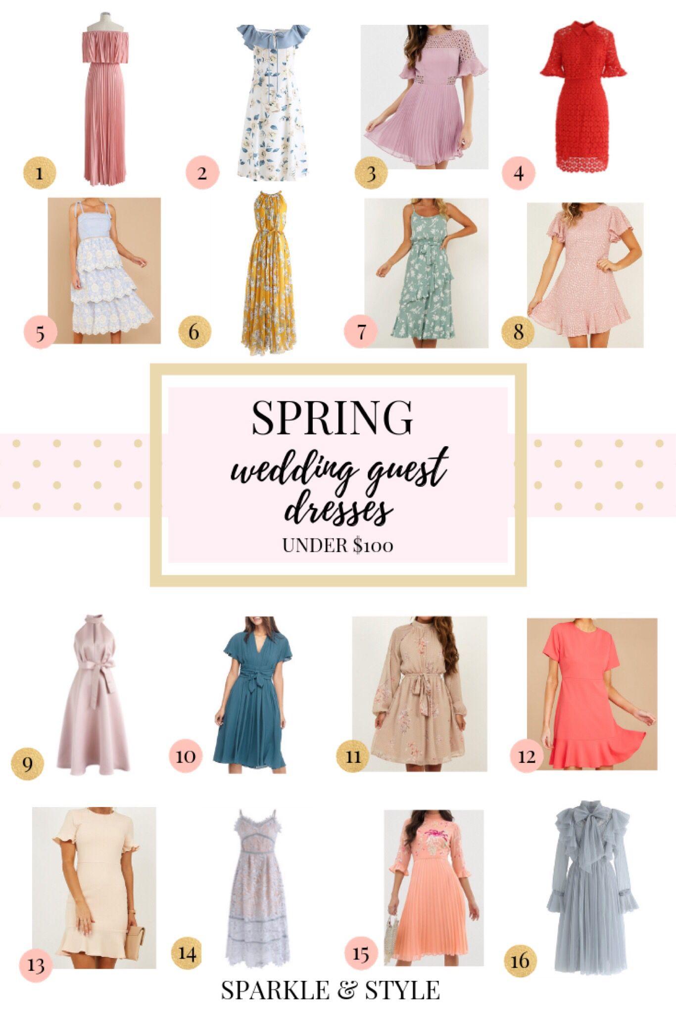 Spring Wedding Guest Dresses Under 100 Spring Wedding Guest Dress Wedding Guest Outfit Modest Summer Dresses