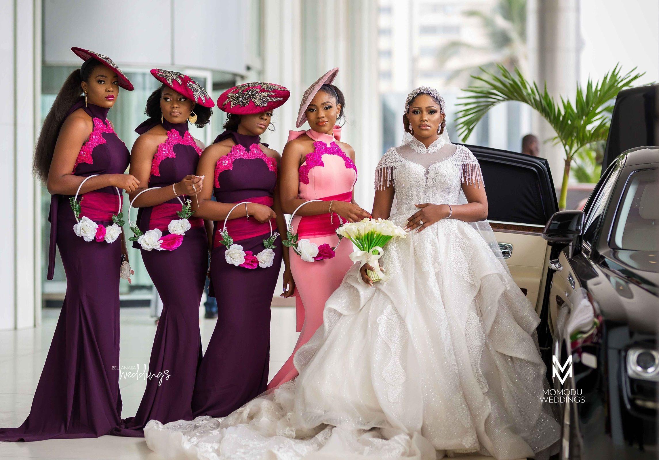 Adaora Chisolu S White Wedding Was Fun Bellanaija Weddings In 2020 Beautiful Bridesmaid Dresses Wedding White Wedding