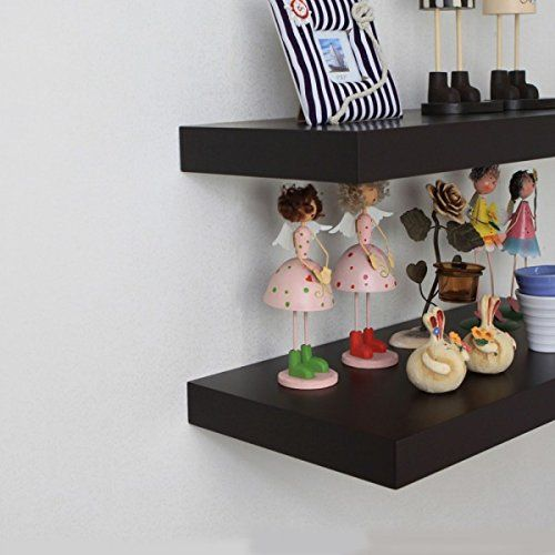 Naiture 48 X 10 X 2 Inch Floating Wall Shelf Espresso Naiture Http Www Amazon Com Dp B00m977p5a Ref Cm Sw R Wall Shelf Display Floating Wall Shelves Shelves
