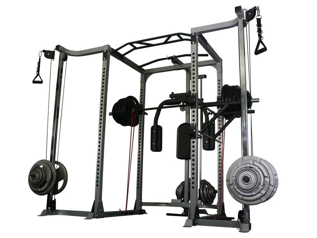 Force Usa Power Rack W Cable Crossover Homebenchpress Power Rack At Home Gym Diy Home Gym