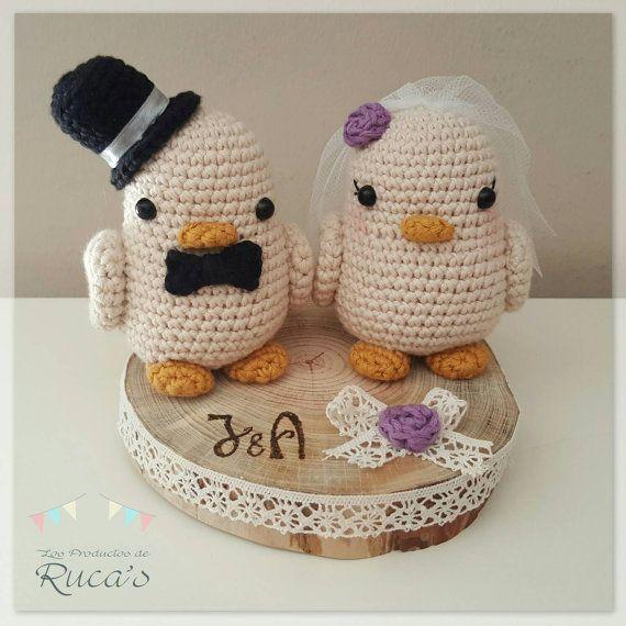novios pajaritos boda amigurumi | amigurumis | crochet wedding
