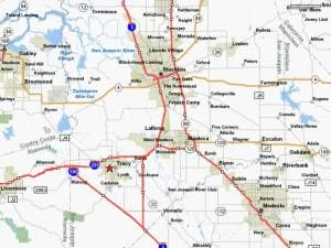 Triangle freeway border map of Tracy CA THE BEST CITIES FOR YOUNG