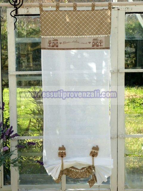 Tenda a pacchetto altezza cm 200 per portafinestra serie for Angelica home e country tende