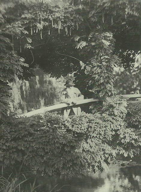 Monet in his garden - In the Studio (scanned from Monet, The Gardener)