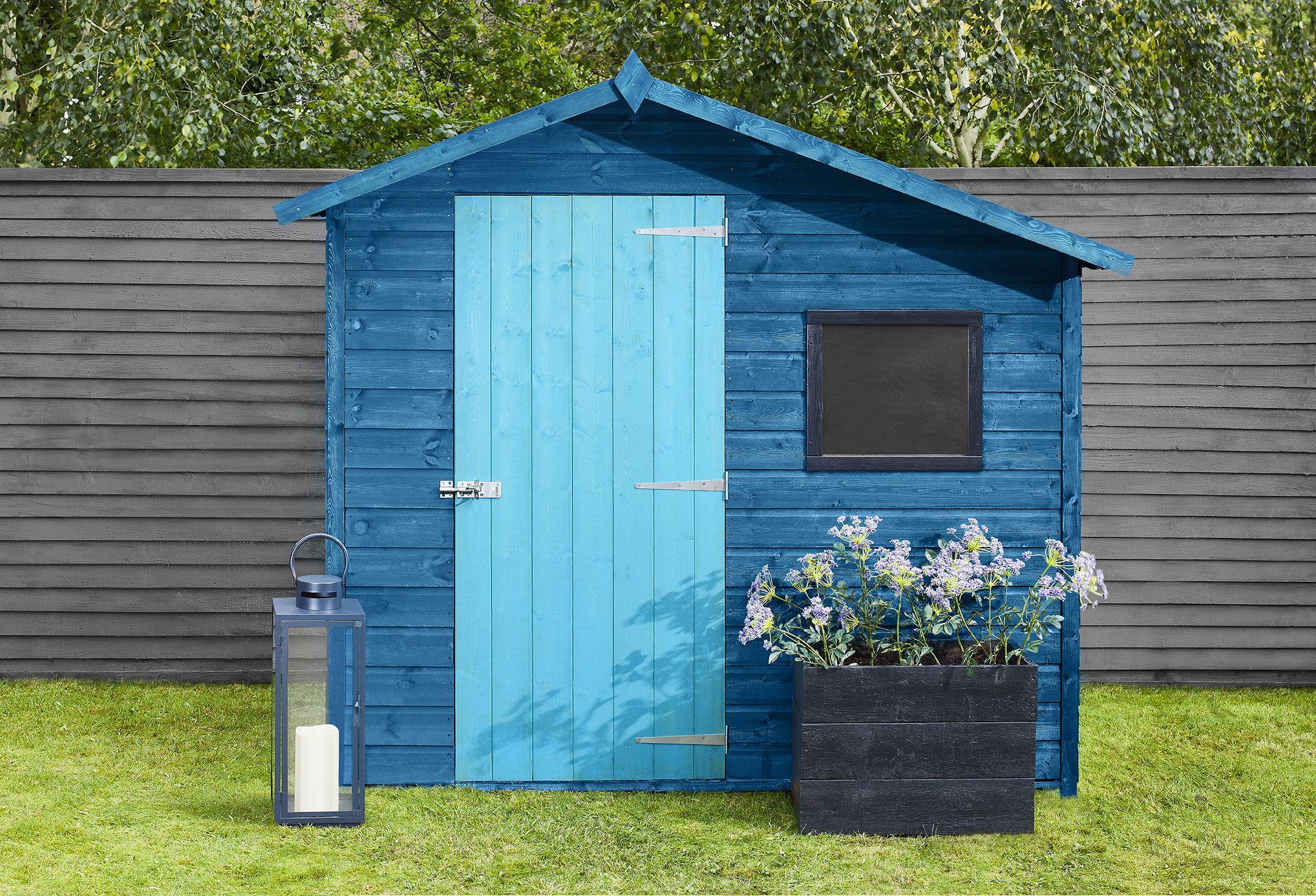 Blue shed grey fence in 2020 blue shed grey fence
