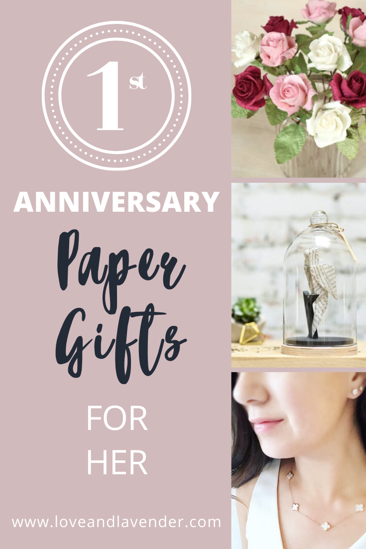 1st Anniversary Paper Gift Ideas for Her 1st anniversary