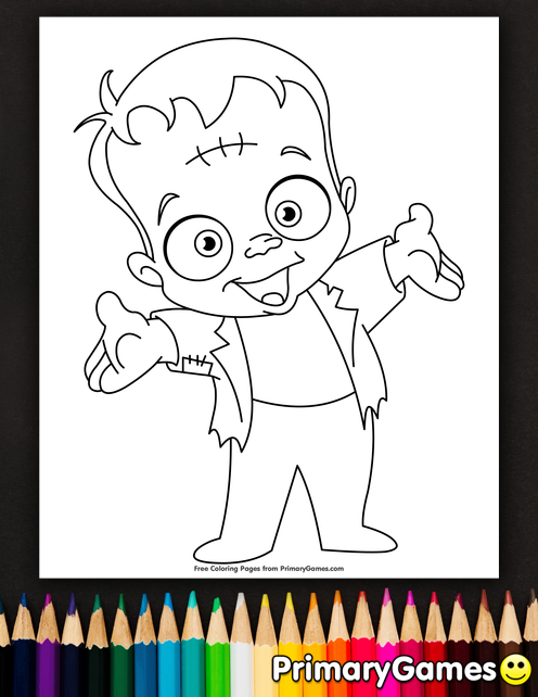 Frankenstein Coloring Page Free Printable Ebook Halloween Coloring Pages Free Halloween Coloring Pages Coloring Pages
