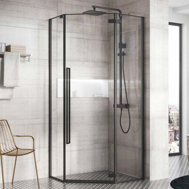 Lakes Italia Fabriano Sliding Door Corner Entry Enclosure 750mm Shower Doors Corner Shower Shower Enclosure