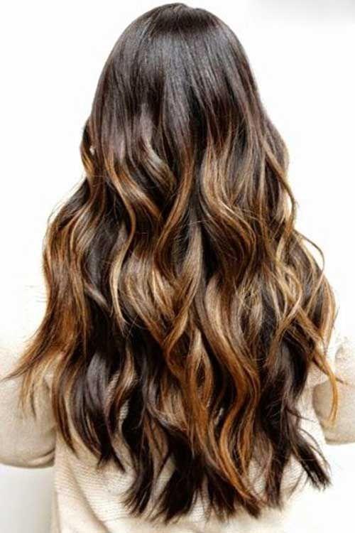40 Brunette Long Hairstyles Ideas Brown Hair Carmel Highlightsbrown