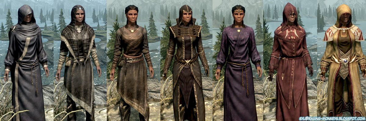 Raging Monkeys Skyrim Cloth And Cosmetic Armor Mage Robes Skyrim Cosplay Skyrim Mage