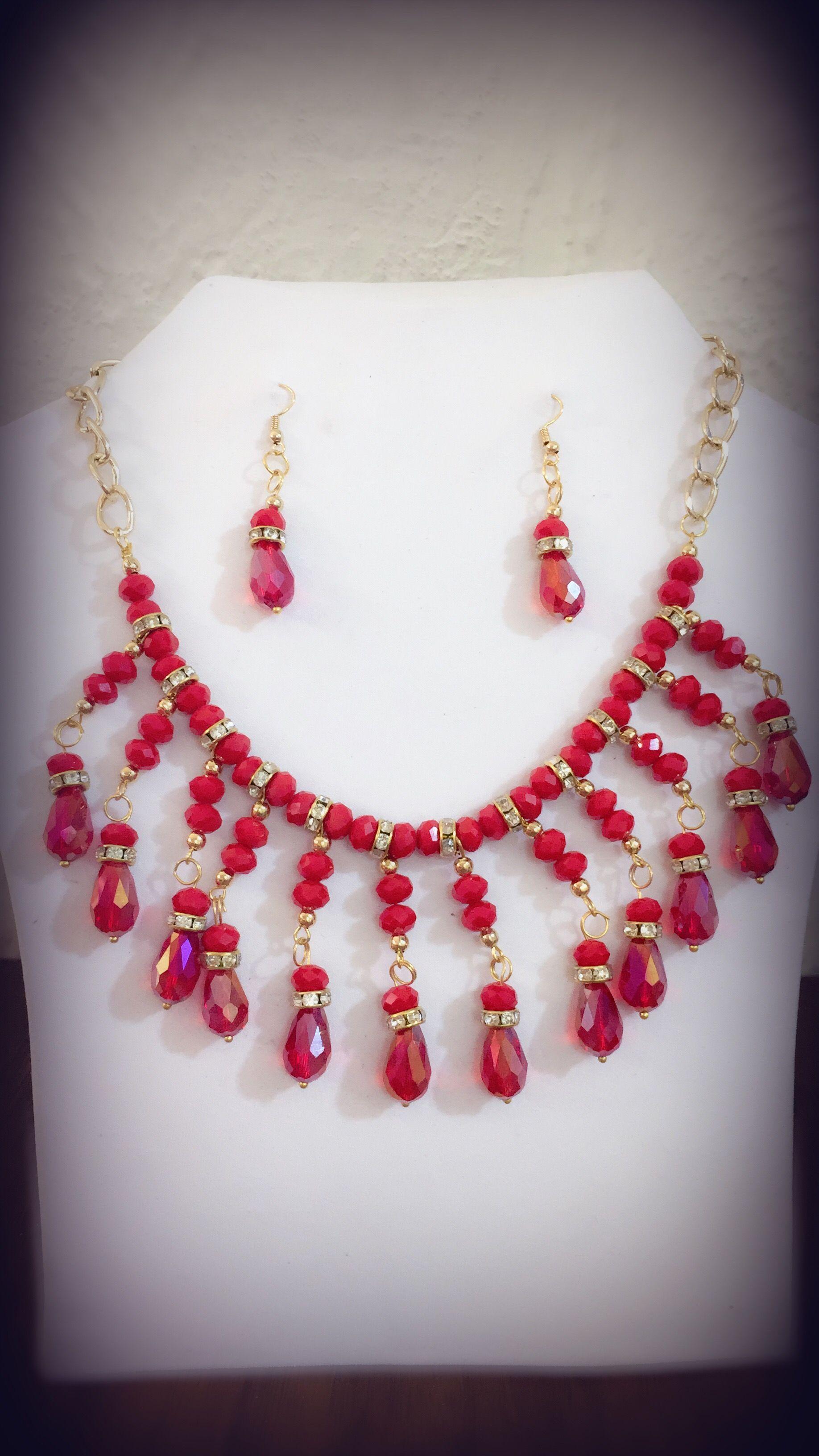 Ne /_ para mujer Vintage Gotas Colgante Gargantilla Collar Aretes Pulsera Set St