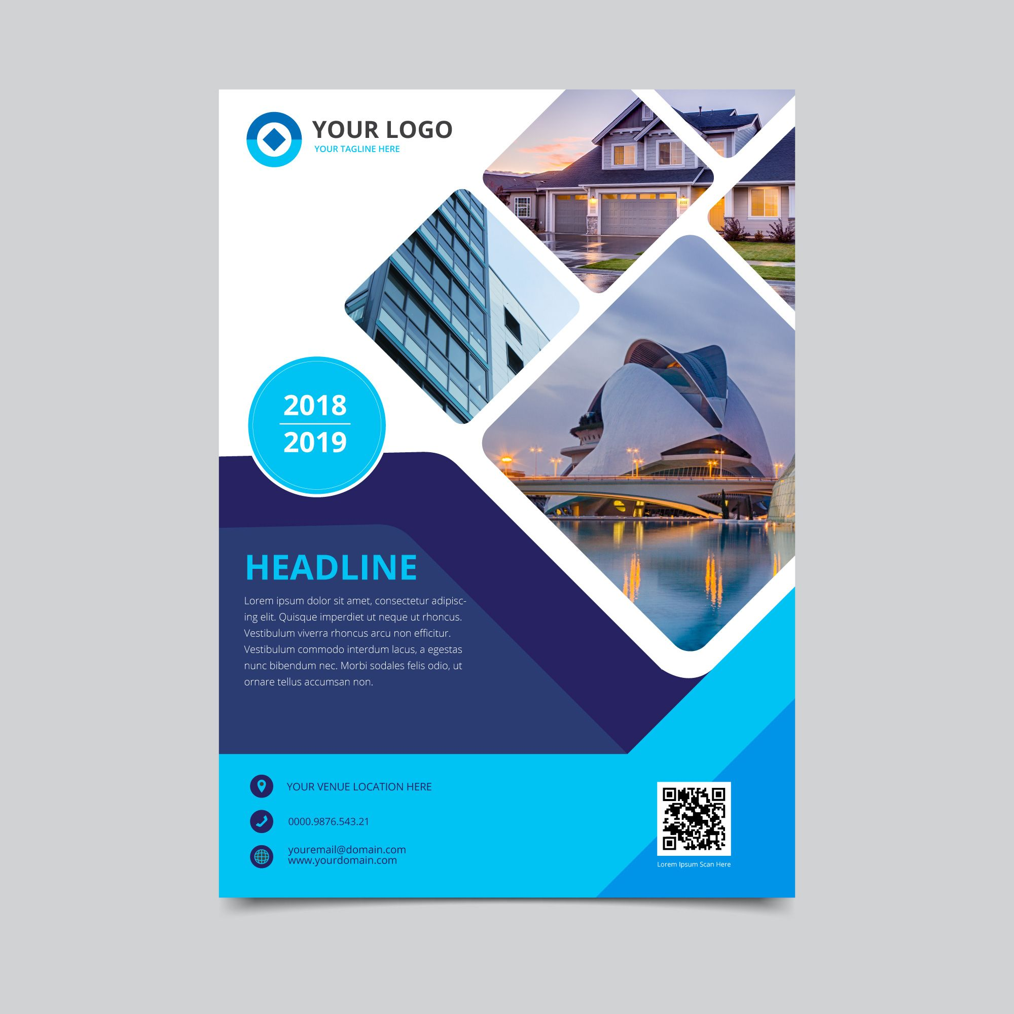 Download Business Flyer Template for free Brochure cover