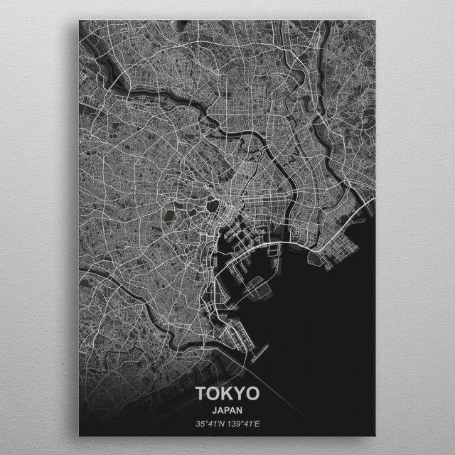 Tokyo - Japan metal poster | Displate thumbnail