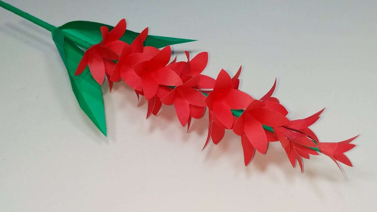 Paper Stick Flower Diy Handcraft Beautiful Stick Flower With Color