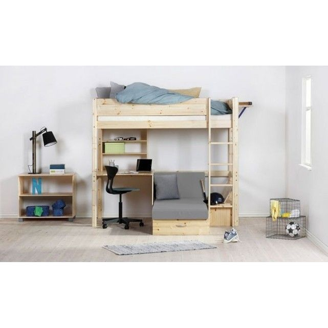 ce module tr s malin permettra votre enfant de combiner sous son lit mezzanine un bureau une. Black Bedroom Furniture Sets. Home Design Ideas