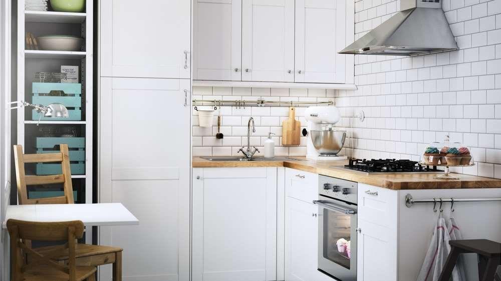 cuisine blanche cr dence carrelage metro ikea cuisine pinterest cuisine blanche ikea et. Black Bedroom Furniture Sets. Home Design Ideas