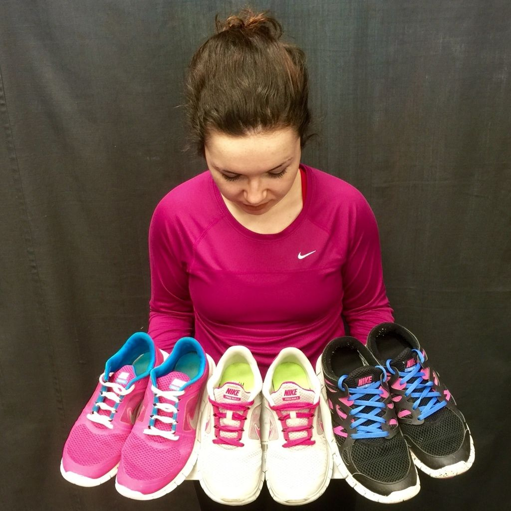 These #Nike running #shoes will add the perfect pop of colour to any outfit! Get them at #PlatosBarrhaven for $20-$50! | www.platosclosetbarrhaven.com