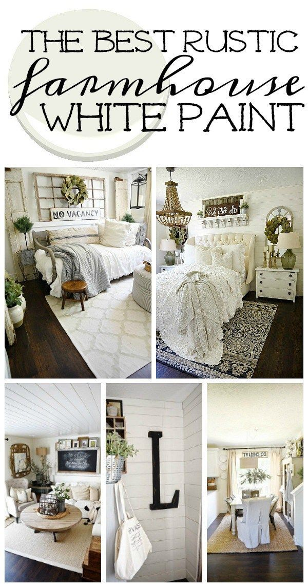 Marvelous The Best Rustic Farmhouse White Paint Liz Marie Home Home Interior And Landscaping Elinuenasavecom