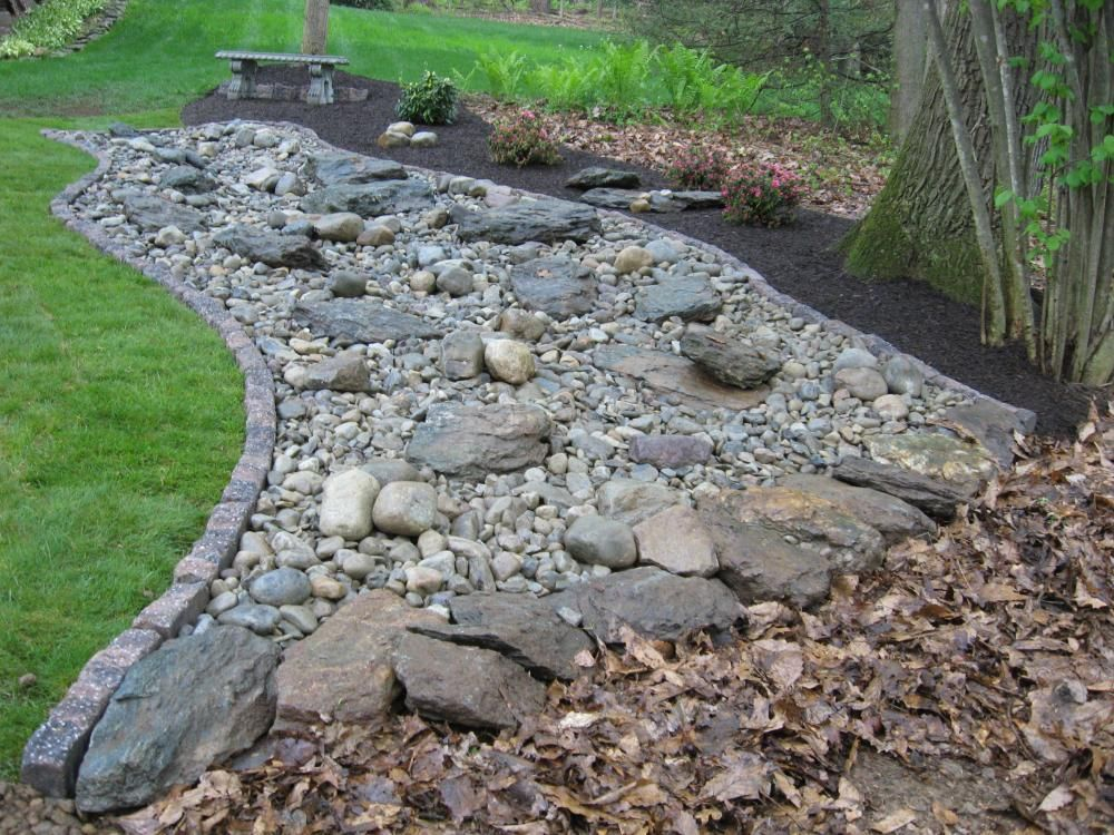 Dry river bed landscaping pictures decorative landscape for Installing river rock landscaping