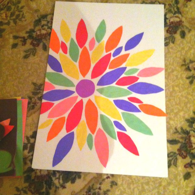 Wall Decor With Construction Paper : Construction paper wall art d i y