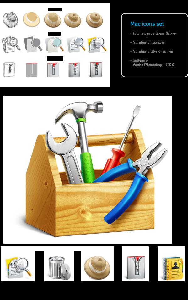 Mac icons & illustrations by Ramotion , via Behance Bob