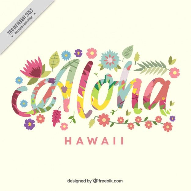 Aloha background with colorful flowers Free Vector | Graphic