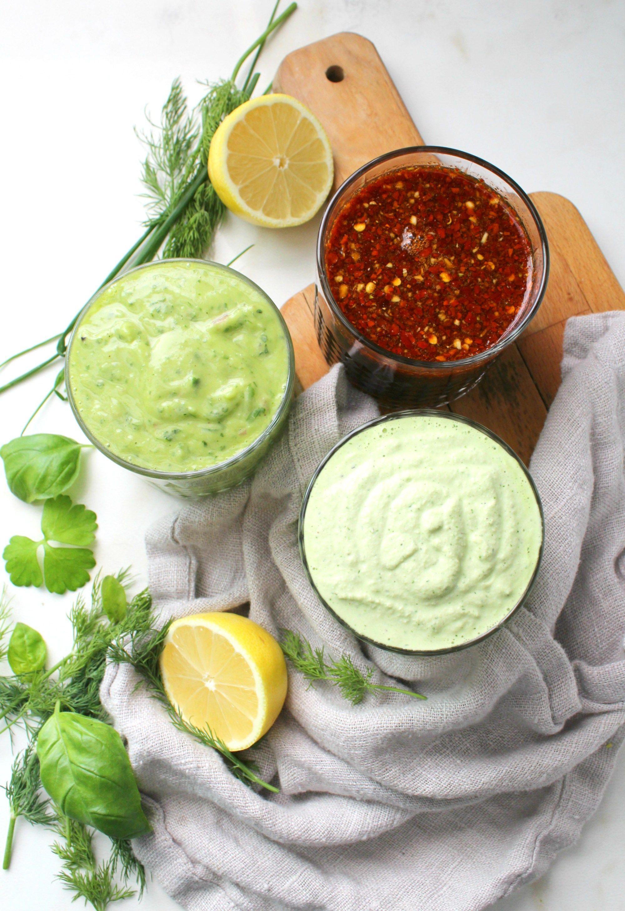 3 oil free vegan dressings this savory vegan recipe