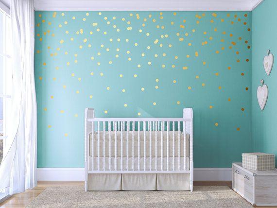 polka dot wall decal gold confetti polka dot polkajesabi